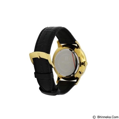 RHYTHM Jam Tangan Pria Leather [FI1607L 03] - Black Gold - Jam Tangan Pria Casual