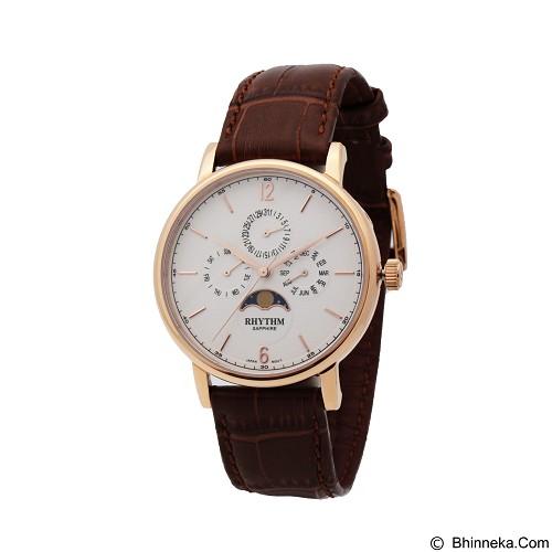 RHYTHM Jam Tangan Pria Leather [FI1608L 04] - Brown Rose Gold (Merchant) - Jam Tangan Pria Casual