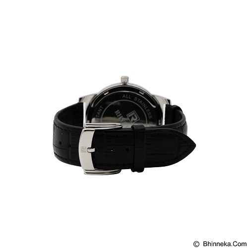RHYTHM Jam Tangan Pria Leather [GS1601L 01] - Black White - Jam Tangan Pria Casual