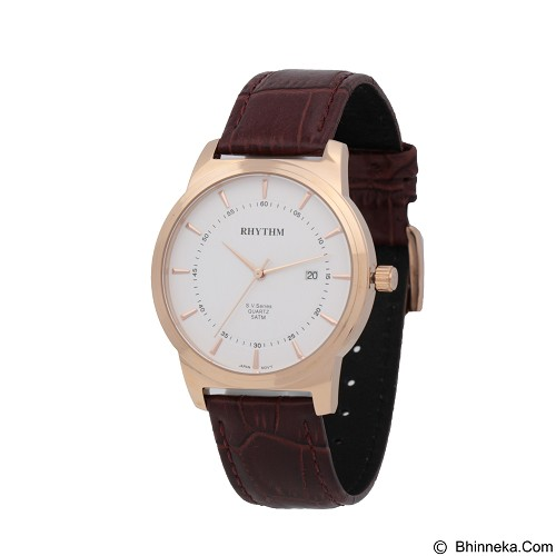 RHYTHM Jam Tangan Pria Leather [GS1601L 03] - Brown Rose Gold - Jam Tangan Pria Casual