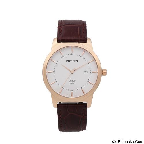 RHYTHM Jam Tangan Pria Leather [GS1601L 03] - Brown Rose Gold - Jam Tangan Pria Casual
