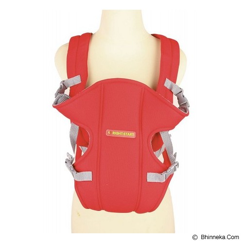 RIGHT STARTS Baby Carrier 2-in-1 3-12 M [RS-108-RD] - Red - Carrier And Sling