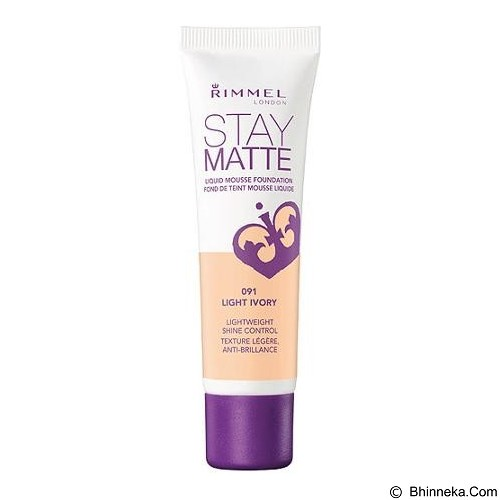 RIMMEL Stay Matte Foundation - Light Ivory - Face Foundation
