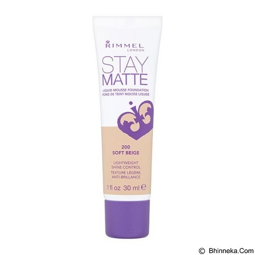 RIMMEL Stay Matte Foundation - Soft Beige - Face Foundation