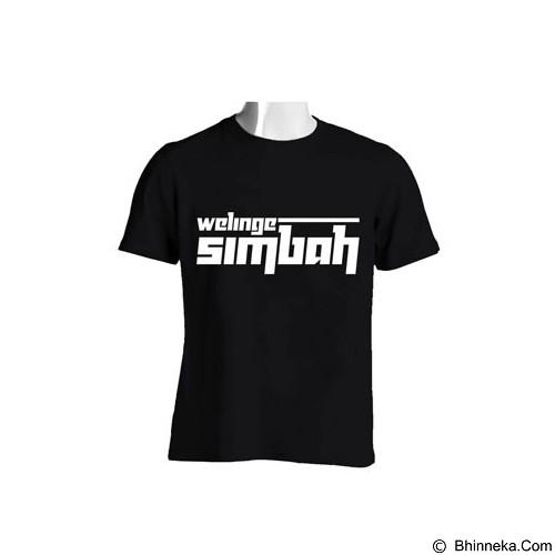 RIZKY TIRTA Kaos Distro Jawa Welinge Simbah - Black (Merchant) - Kaos Wanita