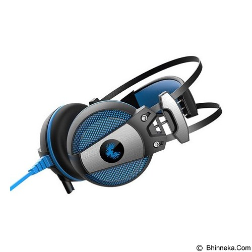 ROBOT Channel Virtual Stereo Wired Headphone Headset [RH-P09] - Blue ( Merchant) - Headphone Full Size
