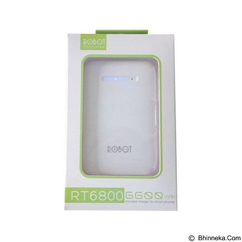 ROBOT Powerbank 6600mAh [RT6800] - White - Portable Charger / Power Bank