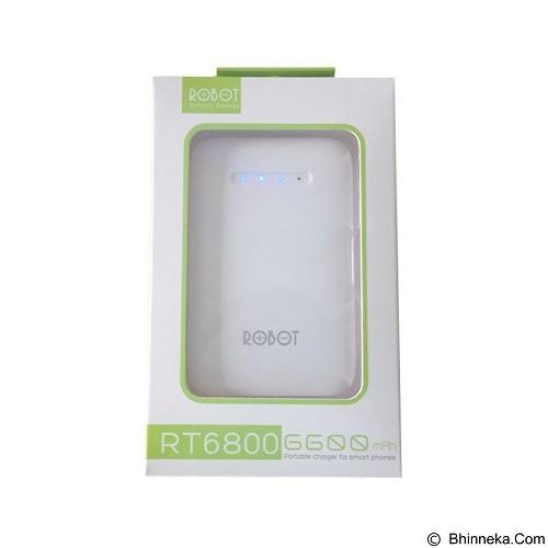 ROBOT Powerbank 6600mAh [RT6800] - White - Portable Charger / Power Bank
