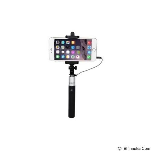 ROBOT Selfie Stick Cable for Android/iOS [RT-S02] - Black (Merchant) - Gadget Monopod / Tongsis