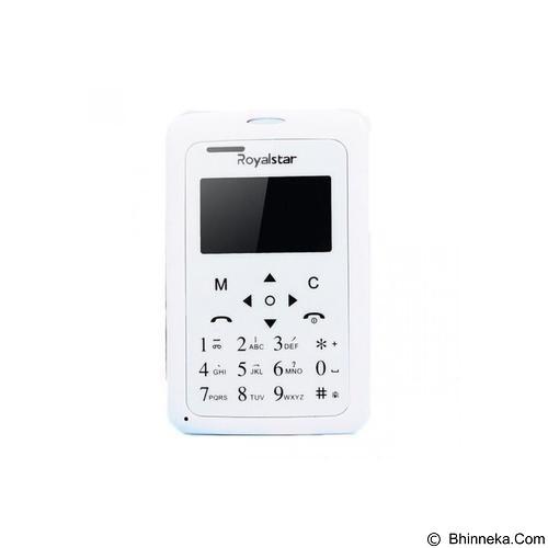 ROYALSTAR Credit Size Mobile Phone [W102] - White (Merchant) - Handphone Gsm