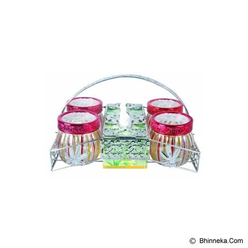 RUBY Set Rak Toples & Tempat Tissue - Toples