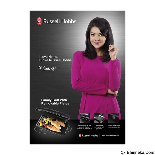 RUSSELL HOBBS Family Removable Plate Grill [20840-56] - Barbeque Grill / Alat Panggang