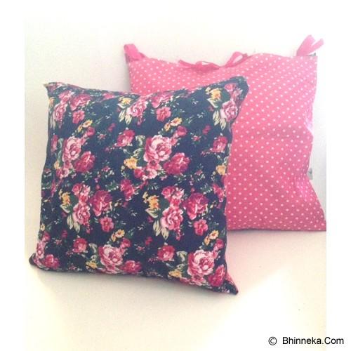 SADE.INDONESIA Cushion Cover with Silicone Pillow - Flower Navy - Bantal Dekorasi