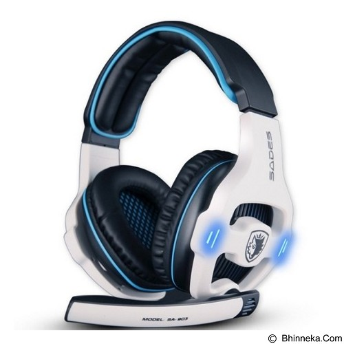 SADES Gaming Headset Sound Effect 7.1 [SA-903] - White (Merchant) - Gaming Headset