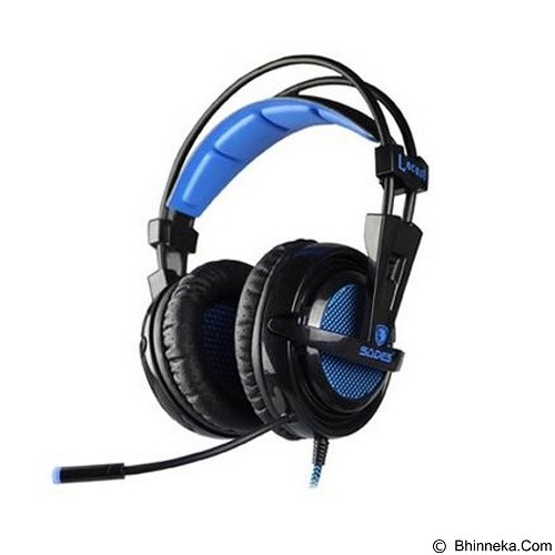 SADES Locust LED Lumination Gaming Headset [SA-704] - Black (Merchant) - Gaming Headset