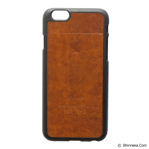 SAGA CASE ID Leather for iPhone 6 - Dark Brown - Casing Handphone / Case
