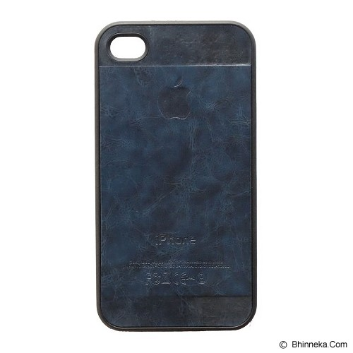 SAGA CASE ID Leather for iPhone 4/4S - Blue - Casing Handphone / Case