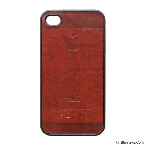 SAGA CASE ID Leather for iPhone 4/4S - Brick - Casing Handphone / Case