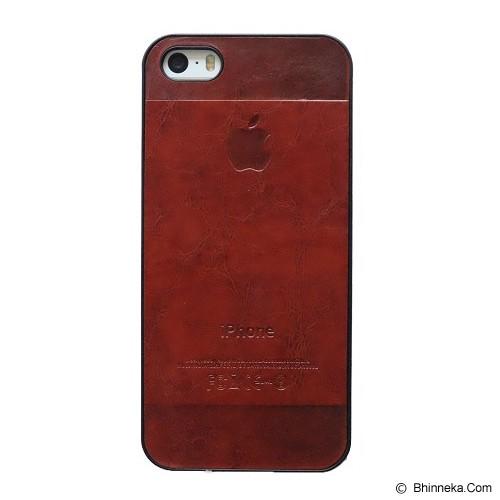 SAGA CASE ID Leather for iPhone 5/5S - Brick - Casing Handphone / Case