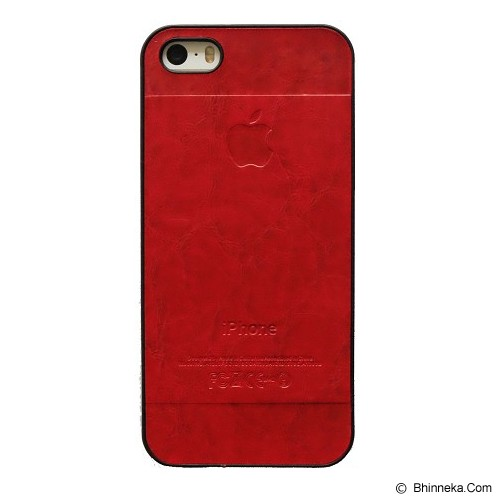 SAGA CASE ID Leather for iPhone 5/5S - Red - Casing Handphone / Case