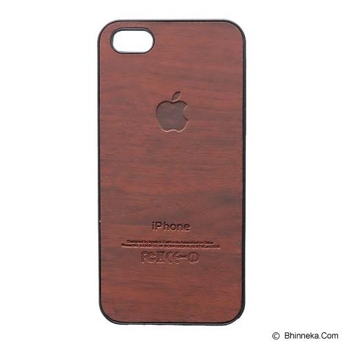 SAGA CASE ID Wood for iPhone 5/5S - Dark Brown - Casing Handphone / Case