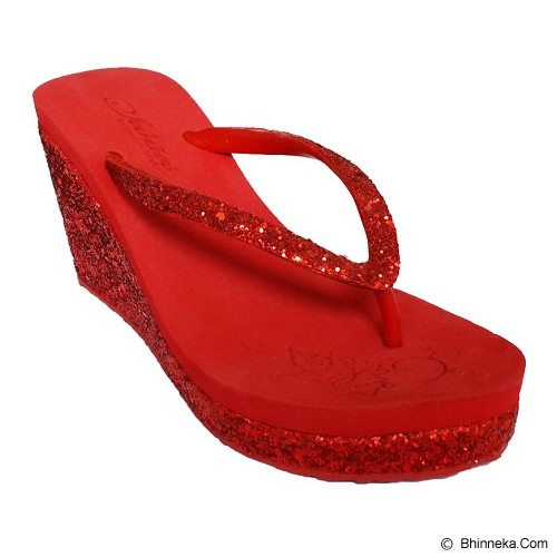SAKIA Haiti Wedges Sandal Size 36 - Red - Wedges Wanita