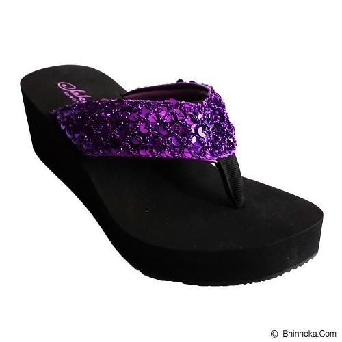 SAKIA Hawai Wedges Sandal Size 38 - Purple - Wedges Wanita
