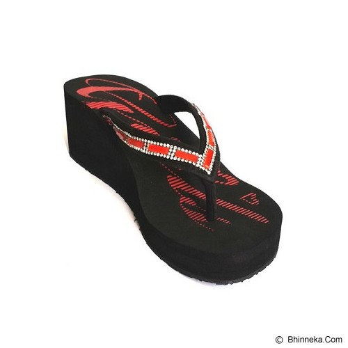 SAKIA Miami Wedges Sandal Size 36 - Red - Wedges Wanita