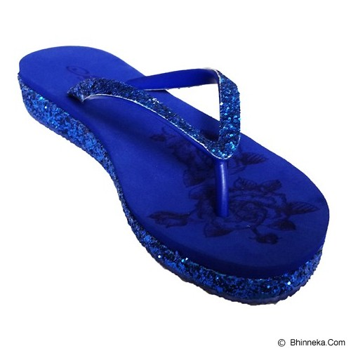 SAKIA Sandiego Wedges Sandal Size 38 - R.Blue - Wedges Wanita