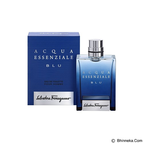 SALVATORE FERRAGAMO Acqua Essenziale Blu For Men EDT 100 ml (Merchant) - Eau De Toilette untuk Pria