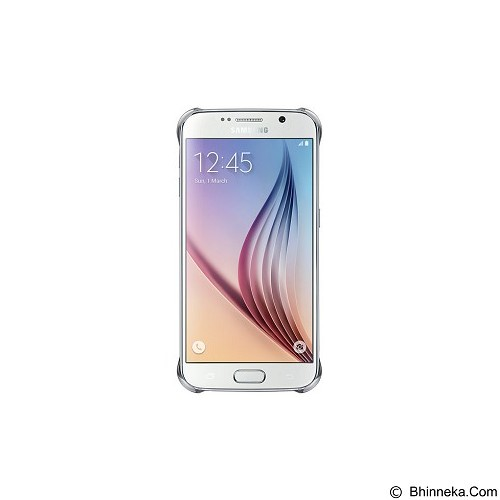 SAMSUNG Clear Case for Galaxy S6 [EF-QG920BSEGWW] - Silver - Casing Handphone / Case