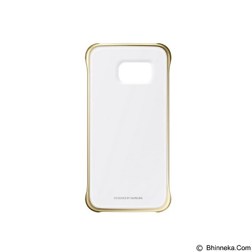 SAMSUNG Clear Case for Galaxy S6 - Gold (Merchant) - Casing Tablet / Case