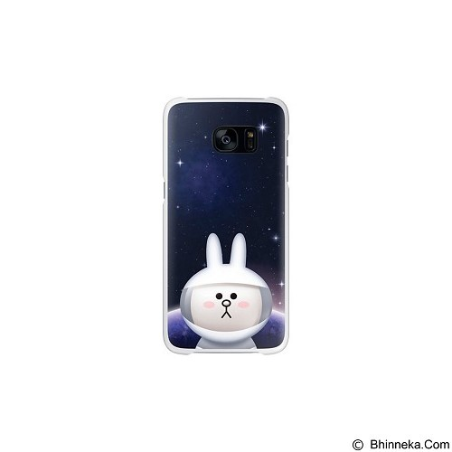 SAMSUNG Clear Cover Cony Collaboration Brown for Galaxy S7 Flat [EF-XG930LWEGWW] - White - Casing Handphone / Case