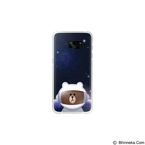 SAMSUNG Clear Cover Line Collaboration Brown for Galaxy S7 Edge [EF-XG935LDEGWW] - Brown - Casing Handphone / Case
