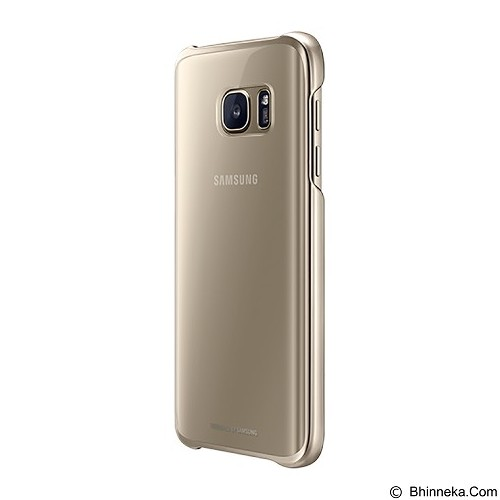 SAMSUNG Clear Cover Protective Case for Galaxy S7 - Gold - Casing Handphone / Case