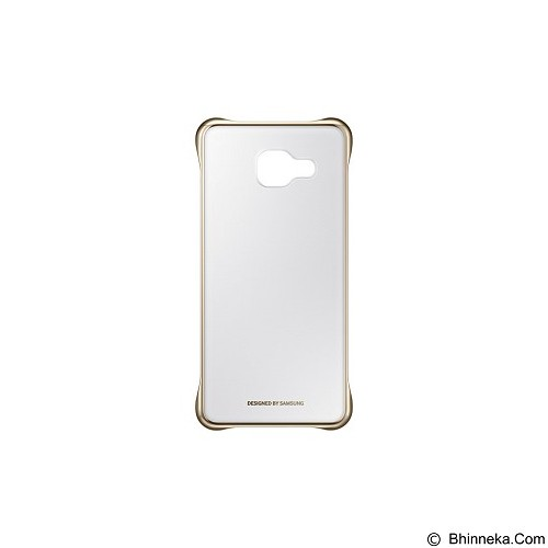 SAMSUNG Clear Cover for Galaxy A3 2016 [EF-QA310CFEGWW] - Gold - Casing Handphone / Case