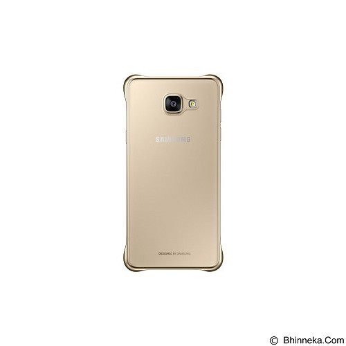 SAMSUNG Clear Cover for Galaxy A5 2016 [EF-QA510CFEGWW] - Gold - Casing Handphone / Case