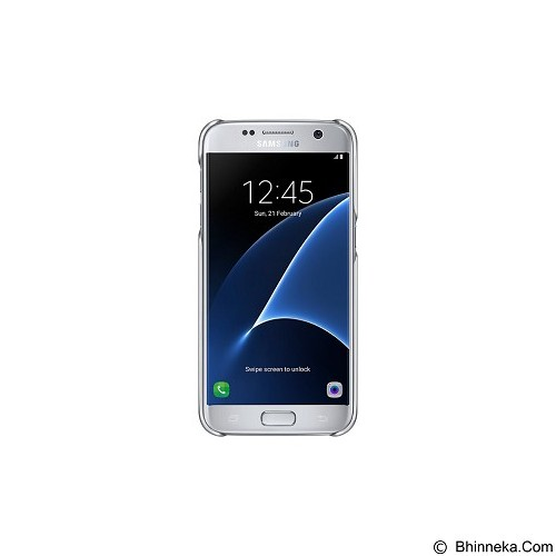 SAMSUNG Clear Cover for Galaxy S7 Flat [EF-QG930CSEGWW] - Silver - Casing Handphone / Case
