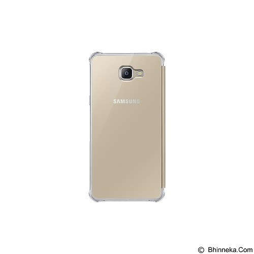 SAMSUNG Clear View Cover for Galaxy A9 Pro [EF-ZA910CFEGWW] - Gold - Casing Handphone / Case