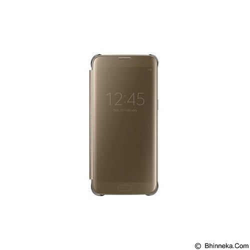SAMSUNG Clear View Cover for Galaxy S7 Edge [EF-ZG935CFEGWW] - Gold - Casing Handphone / Case