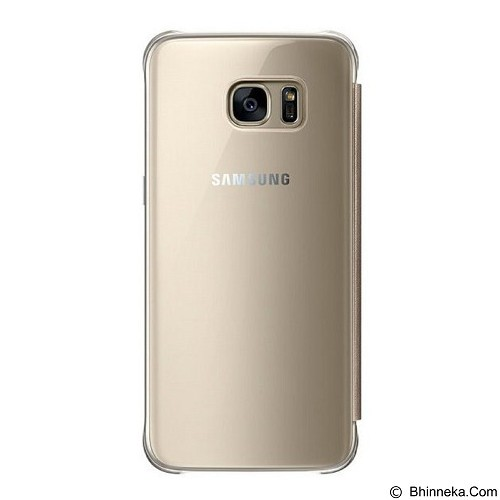SAMSUNG Clear View Cover for Galaxy S7 Edge - Gold (Merchant) - Casing Handphone / Case