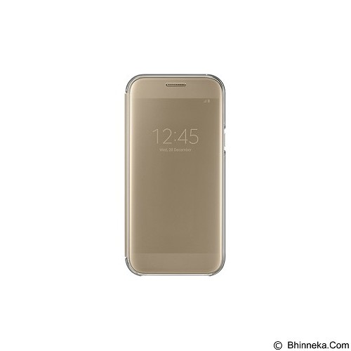SAMSUNG Clear View Cover for Samsung Galaxy A5 (2017) [EF-ZA520CFEGWW] - Gold - Casing Handphone / Case
