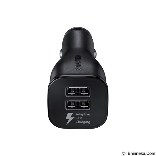 SAMSUNG Dual Port Car Charger Fast - Black - Car Kit / Charger