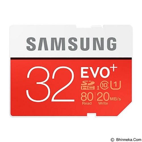 SAMSUNG Evo Plus MicroSDHC UHS-I Class 10 32GB with SD Adapter (Merchant) - Secure Digital / Sd Card