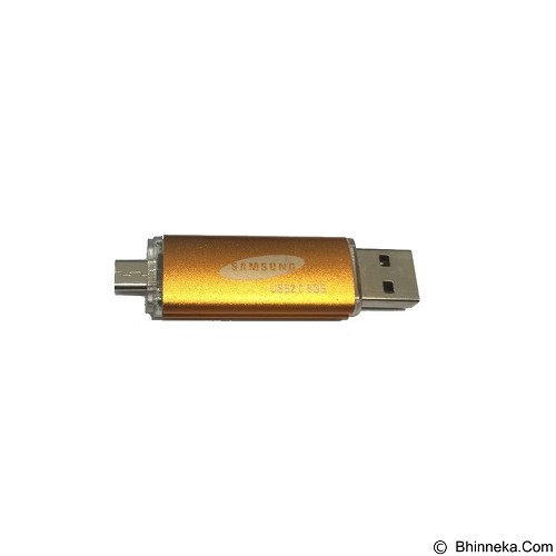 SAMSUNG Flashdisk 2in1 8GB USB 2.0 and Micro USB - Gold (Merchant) - Usb Flash Disk Dual Drive / Otg