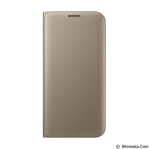 SAMSUNG Flip Wallet Cover Case for Galaxy S7 Edge - Gold - Casing Handphone / Case