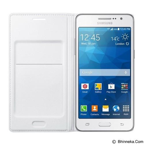 SAMSUNG Flip Wallet for Galaxy Grand Prime - White (Merchant) - Casing Handphone / Case
