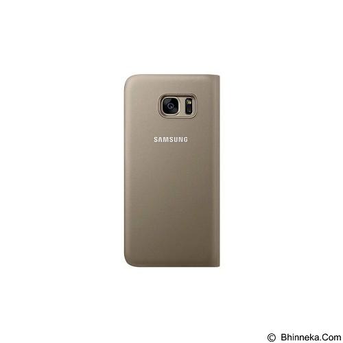 SAMSUNG Flip Wallet for Galaxy S7 Edge [EF-WG935PFEGWW] - Gold - Casing Handphone / Case