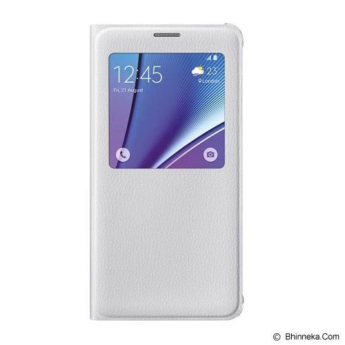 SAMSUNG Galaxy Note 5 S View Flip Cover Case - White - Casing Handphone / Case