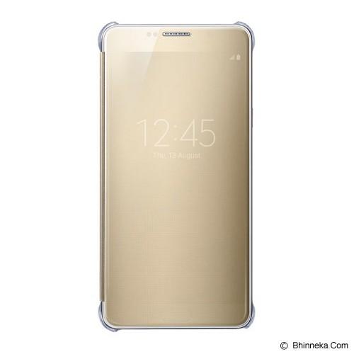 SAMSUNG Galaxy Note 5 S View Flip Cover Case Original - Clear Gold - Casing Handphone / Case